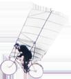 cycliste volant