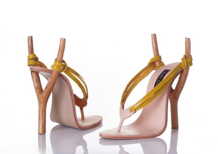chaussures de femmes avec talons frondes