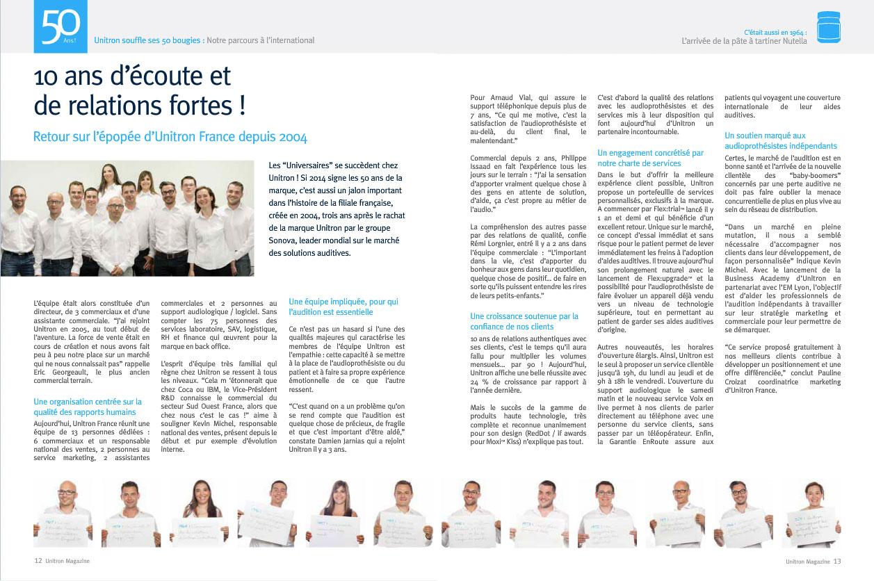 équipe Unitron France
