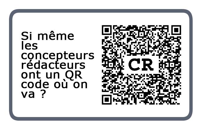 QR code d'un concepteur-rédacteur