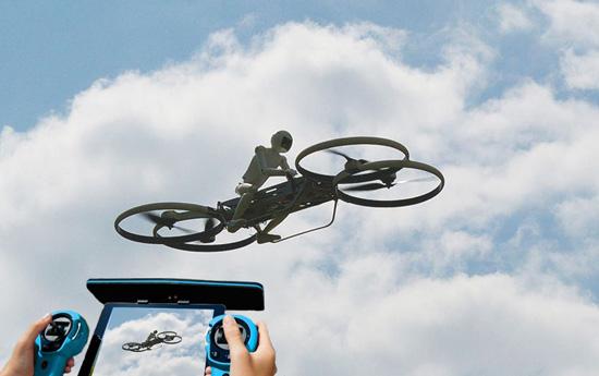 piloter un robot sur un drone