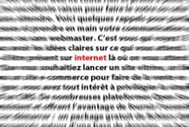 Texte flou avec internet en net