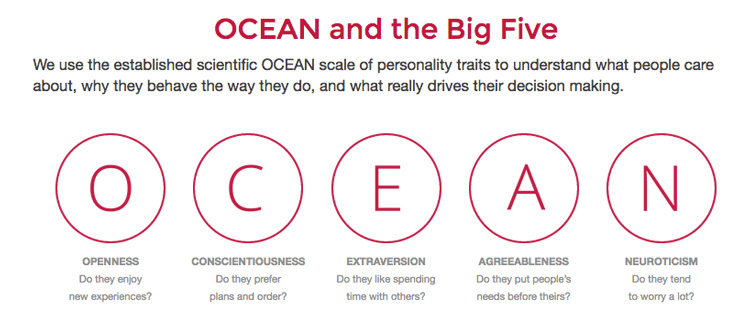 OCEAN The big five