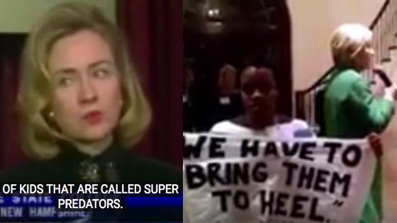 Clinton et les noirs super predateurs en1996 et 2016