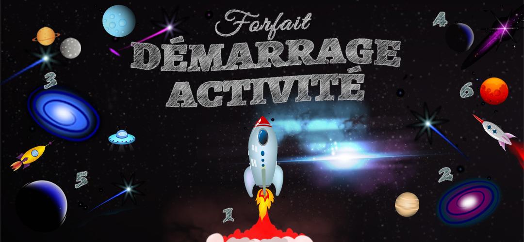 Forfait Démarrage Activité représenté par une fusée