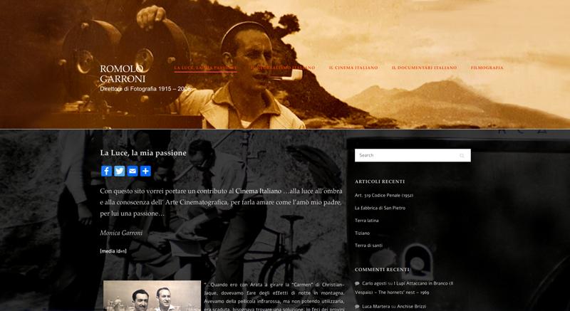 site Romolo Garroni